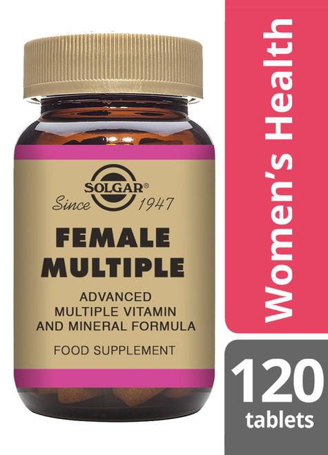 Solgar® | Female Multiple Tablets - Pack of 120 (E1205) www.battleboxuk.com