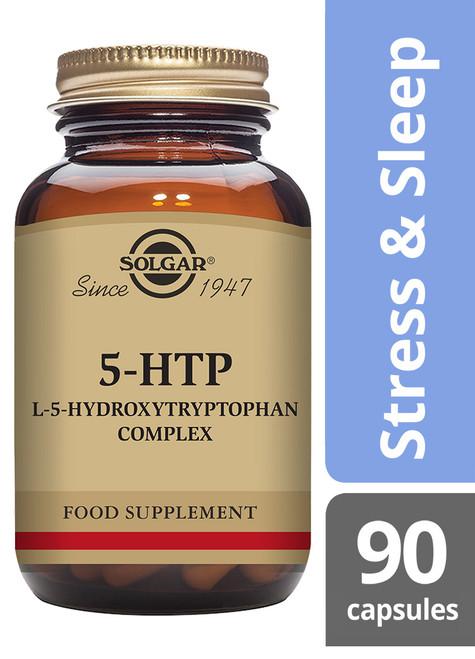 Solgar®   F5-HTP (L-5-Hydroxytryptophan) Complex Vegetable Capsules - Pack of 90 (E1453E) www.battleboxuk.com