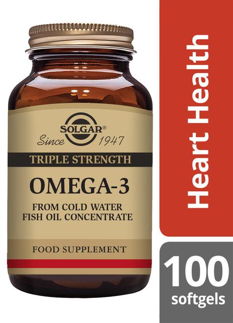 Solgar® | Triple Strength Omega-3 Softgels - Pack of 100 (E2058)) www.battleboxuk.com
