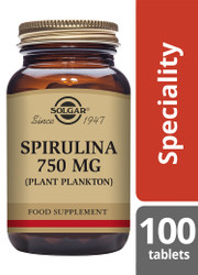 Solgar® | Spirulina 750mg Tablets-Pack of 100 (E2660) www.battleboxuk.com