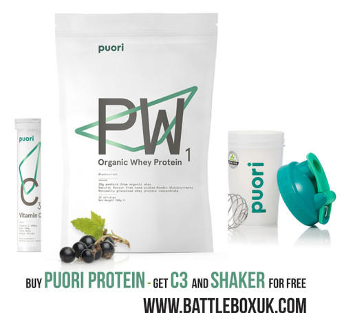 Puori PW1 Nordic Blackcurrant Organic Whey Protein 900g Limited Edition www.battleboxuk.com