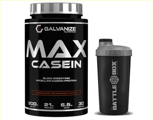 GALVANIZE   MAX CASEIN 900   SLOW DIGESTING MICELLAR CASEIN PROTEIN WWW.BATTLEBOXUK.COM
