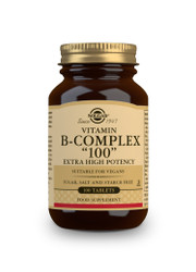 Solgar | Vitamin B-Complex 100 Extra High Potency Tablets-Pack of 100 (E1150E) www.battleboxuk.com