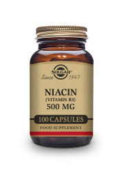 Solgar | Niacin (Vitamin B3) 500 mg Vegetable Capsules | Pack of 100  www.battleboxuk.com