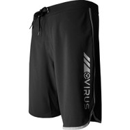 VIRUS Airflex 4-Way Stretch Training Shorts Black and Silver