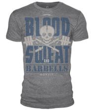 www.crosstraininguk.co.uk - Rokfit Blood, Sweat and Barbells Tee Shirt
