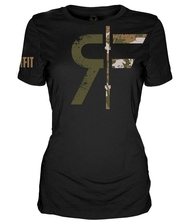 CrossTrainingUK.co.uk - RokFit Logo Black Camo T-Shirt Women