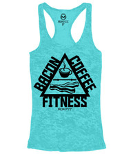 CrossTrainingUk.co.uk - RokFit THE TRIFECTA - Bacon, Coffee & Fitness Tahiti Tank Top Women