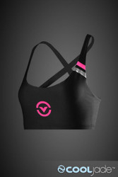 VIRUS Women's Stay Cool Functional Sports Bra Black & Pink (eCo16)