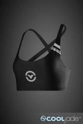 VIRUS Women's Stay Cool Functional Sports Bra Black & Silver (eCo16)