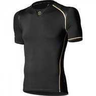 VIRUS Men's Bioceramic X-Form Posture Support Short Sleeve Compression Top Black EAu11x
