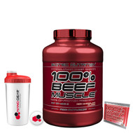 SCITEC 100% PALEO BEEF MUSCLE GAINER 3.18KG HYDROLYZED WEIGHT HIGH CARBS