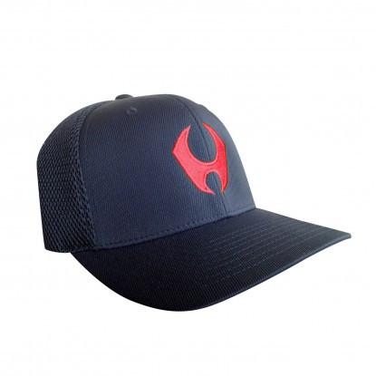 HYLETE PERFORMANCE FLEXFIT HAT 3.0 (BLACK/SHOCKING RED)