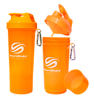 SmartShake Protein Slim Line Smart Shaker 500ml Neon Orange