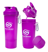 SmartShake Protein Slim Line Smart Shaker 500ml Neon Purple