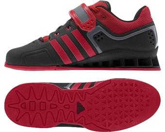 Adidas AdiPower Weightlifting Shoes Black Scarlet Grey Metallic M21865 - Battle  Box UK f073d05c6