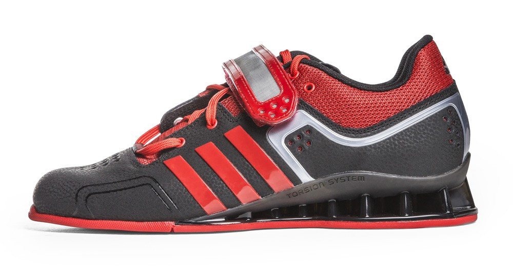 new arrival 6ebc3 cfe70 BattleBoxUk.com - adiPower Weightlifting Shoes Black Scarlet Grey Metallic  M21865