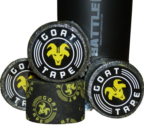 Goat Tape Scary Sticky Black and Yellow - BattleBoxUk.com