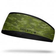 HYLETE inline reversible headband (green camo/black)