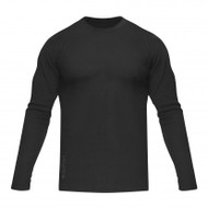 HYLETE vertical dual-blend crew thermal (black/gun metal)