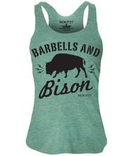 BattleBoxUK.com - RokFit BARBELLS AND BISON Tank Top Women