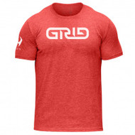 Hylete GRID tri-blend crew tee (vintage red/white)