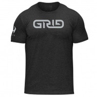 Hylete GRID tri-blend crew tee (vintage black/electric silver)