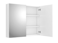 Side Hinged - 900 - White Gloss - Mirror - Cabinet - 11289