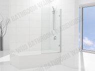 Premier - Single Hinge Bath Screen - Semi Frameless - Shower Screen - 11881