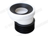Pan Connector - 20mm Offset - White - Waste - Plumbing - 11952