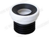 Pan Connector - 0mm Offset - White - Waste - Plumbing - 11953
