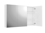 Side Hinged - 1200 - White Gloss - Mirror - Cabinet - 12307