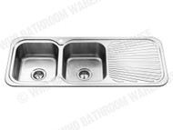 Sheffield - 1180D-Left - Polished Stainless - Kitchen - Sink/Trough - 12357