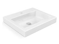 Polymarble bench-top basin.