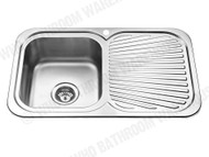 Sheffield - 780-Left - Polished Stainless - Kitchen - Sink/Trough - 12536