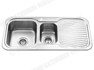 Sheffield - 980D-Left - Polished Stainless - Kitchen - Sink/Trough - 12537