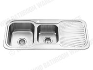 Sheffield - 1080D-Left - Polished Stainless - Kitchen - Sink/Trough - 12538