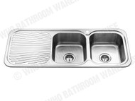 Sheffield - 1180D-Right - Polished Stainless - Kitchen - Sink/Trough - 12564