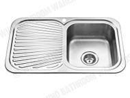 Sheffield - 780-Right - Polished Stainless - Kitchen - Sink/Trough - 12565