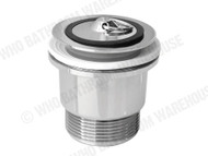 Plug & Waste - Brass Plug 40mm - Polished Chrome - Waste - Plumbing - 12569