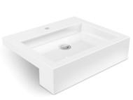 WB-403 - White - Semi Recessed - Wash Basin - 12661