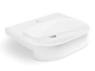 WB-404 - White - Semi Recessed - Wash Basin - 12662