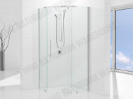 Elly - 900 Diamond SET - Semi Frameless - Shower Screen - 12674