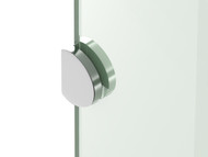 GP - Round Bracket - Polished Chrome - Frameless - Shower Screen - 13049