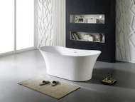 Toorak XI - 1800mm - White - Free Standing - Bath - 13369