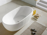 Yarra XI  - 1550mm - White - Free Standing - Bath - 13374