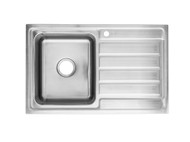 Coventry - 800-Left - Linished Stainless - Kitchen - Sink/Trough - 13741
