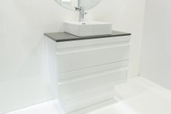 Elite - DD 900 Olivia / Quartz Top / WB-562 - (White Gloss) - Wall Hung or Freestanding - Vanity