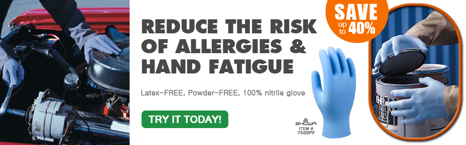 LATEX FREE, Reduce Allergies, and Hand Fatigue.  Buy now and save up to 40%.