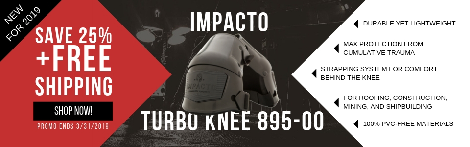 New 2019 895 TurboKnee kneepad. Save 25% and Free Shipping.  Promo ends 03/31/2019